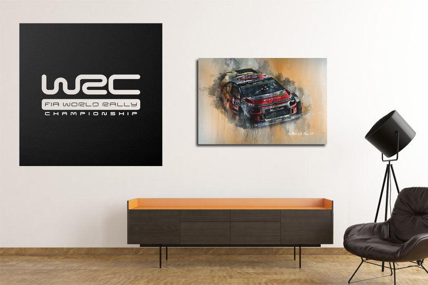 World Rally Championship Motorsport Art Canvas