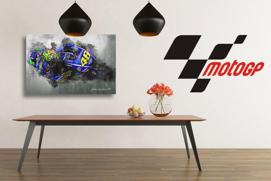 Moto GP Motorsport Art Canvas
