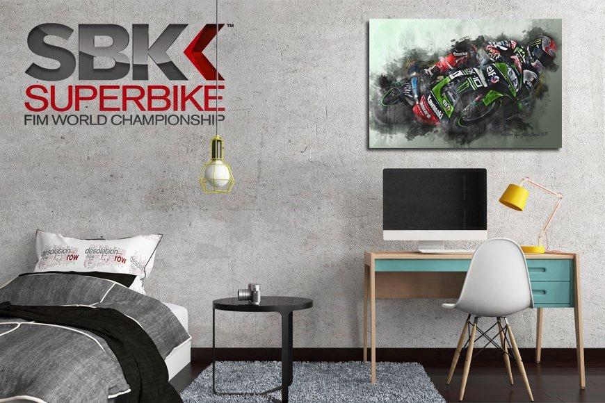 World Superbikes Motorsport Art Canvas