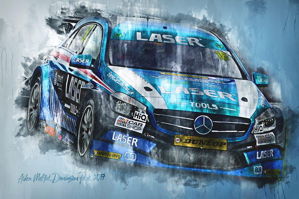 Aiden Moffat British Touring Car Championship Wall Art Canvas Print - Motorsport Art