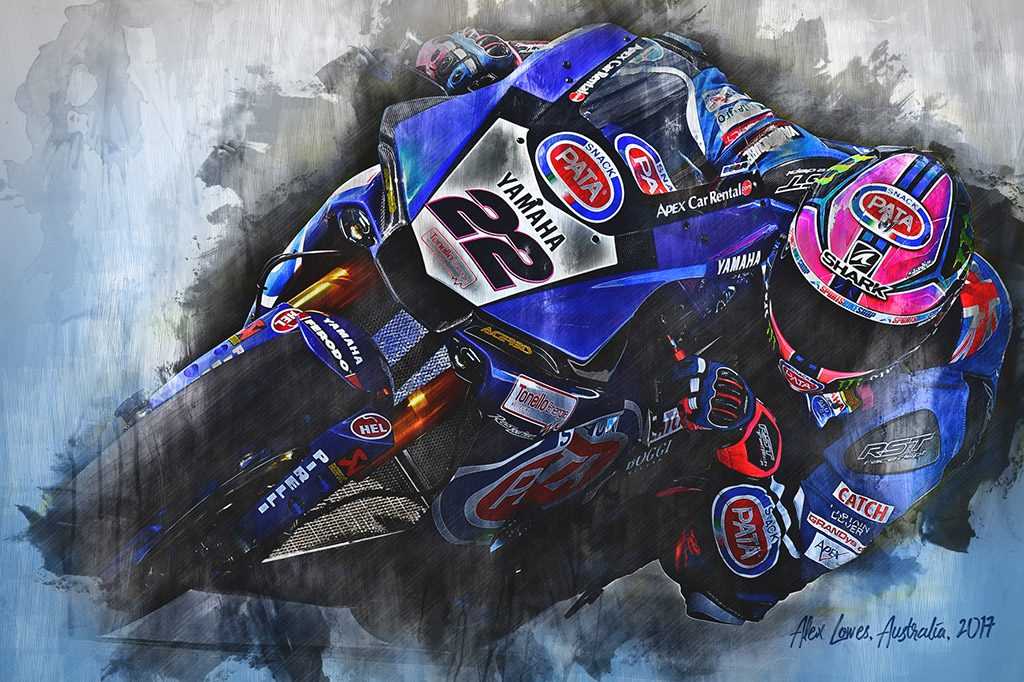 Alex Lowes - World Superbikes - Wall Art Canvas Print