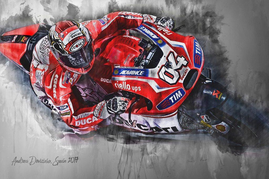 Andrea Dovizioso Moto GP Wall Art Canvas Print
