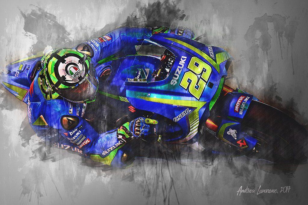 Andrea Iannone - Moto GP - Wall Art Canvas Print