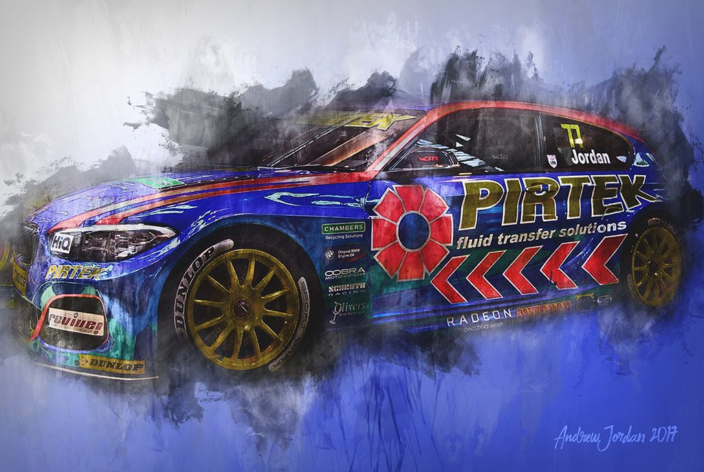 Andrew Jordan - British Touring Car Championship Wall Art Canvas