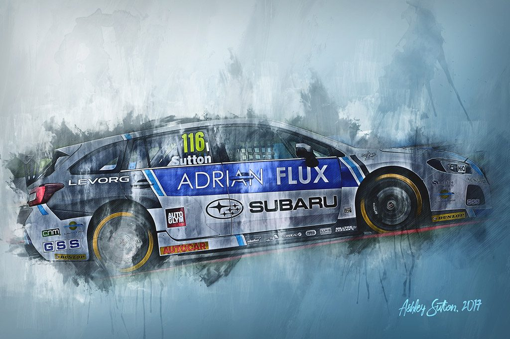 Ashley Sutton - British Touring Car Championship - Wall Art Canvas