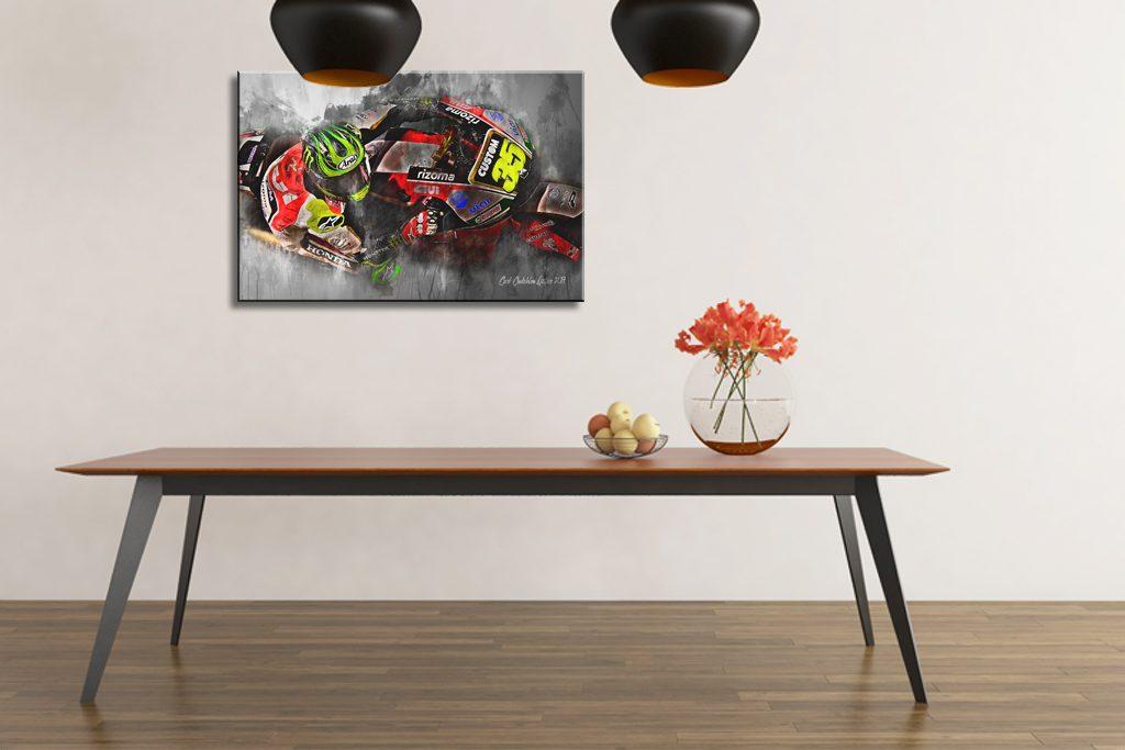 cal crutchlow canvas wall art print moto gp motorsport art