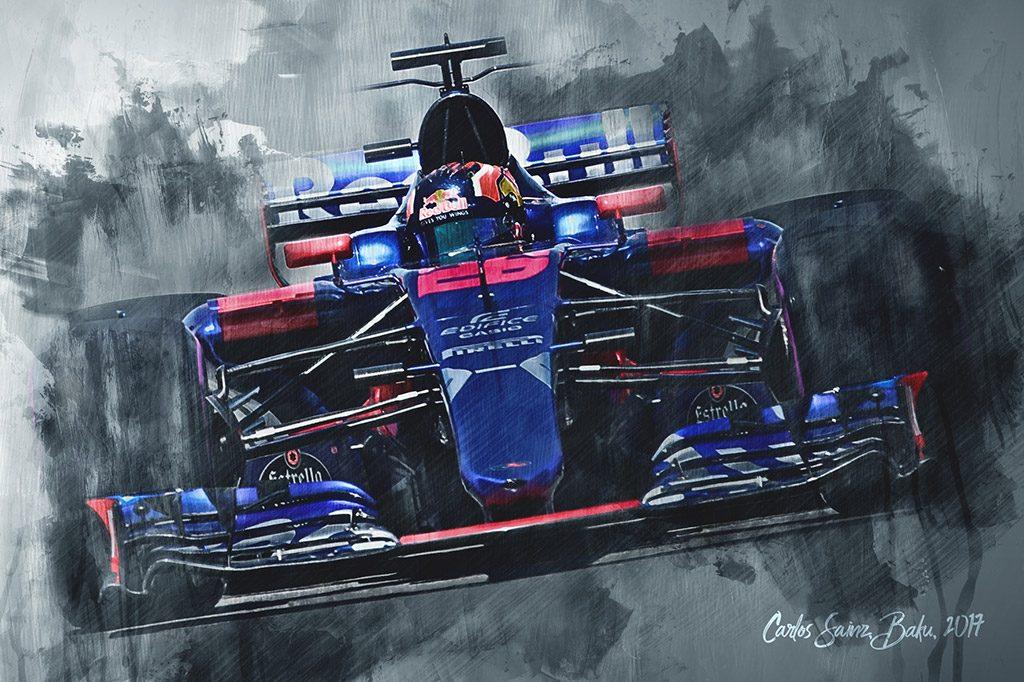 Carlos Sainz - Formula 1 - Wall Art Canvas Print