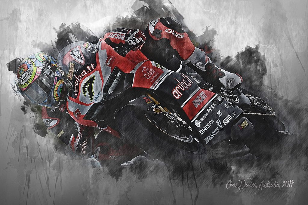 Chaz Davies - World Superbikes - Wall Art Canvas Print