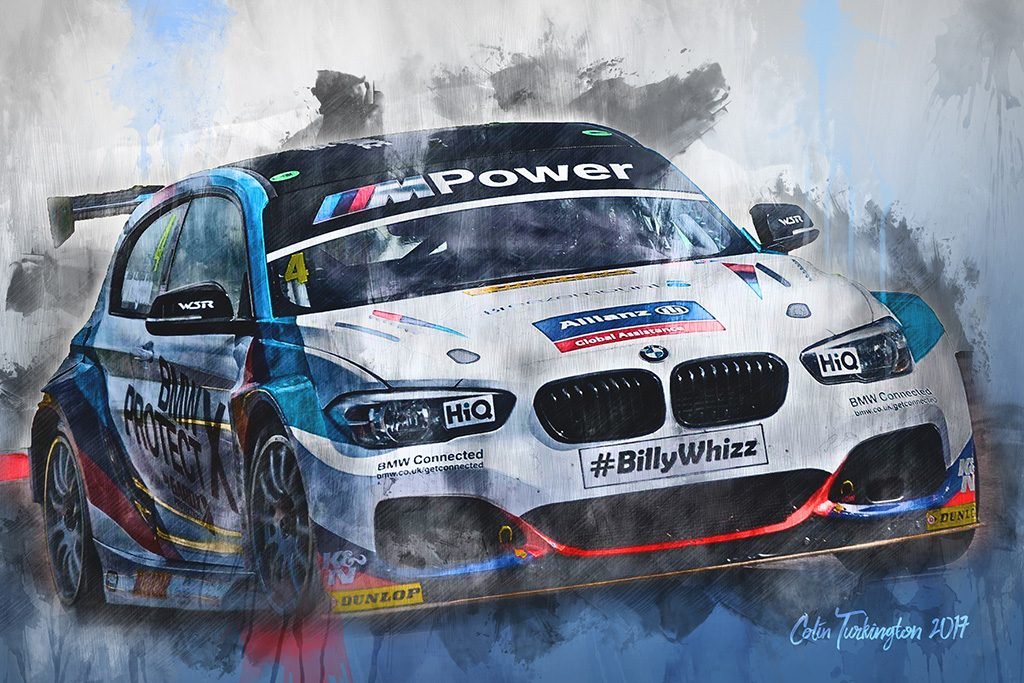 Colin Turkington British Touring Car Championship Wall Art Canvas Print