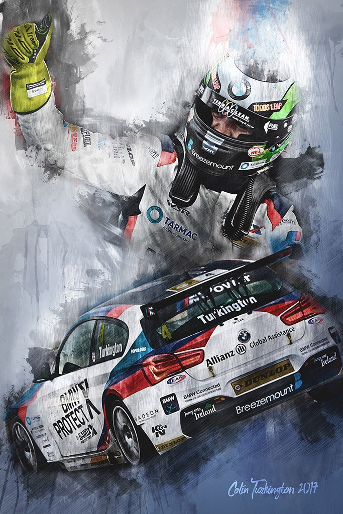 Colin Turkington - British-Touring Car Championship -Wall Art Canvas