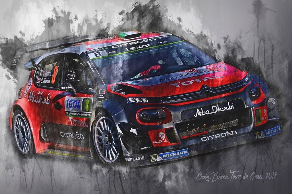 Craig Breen - World Rally Championship - Motorsport Art Wall Art Canvas Print