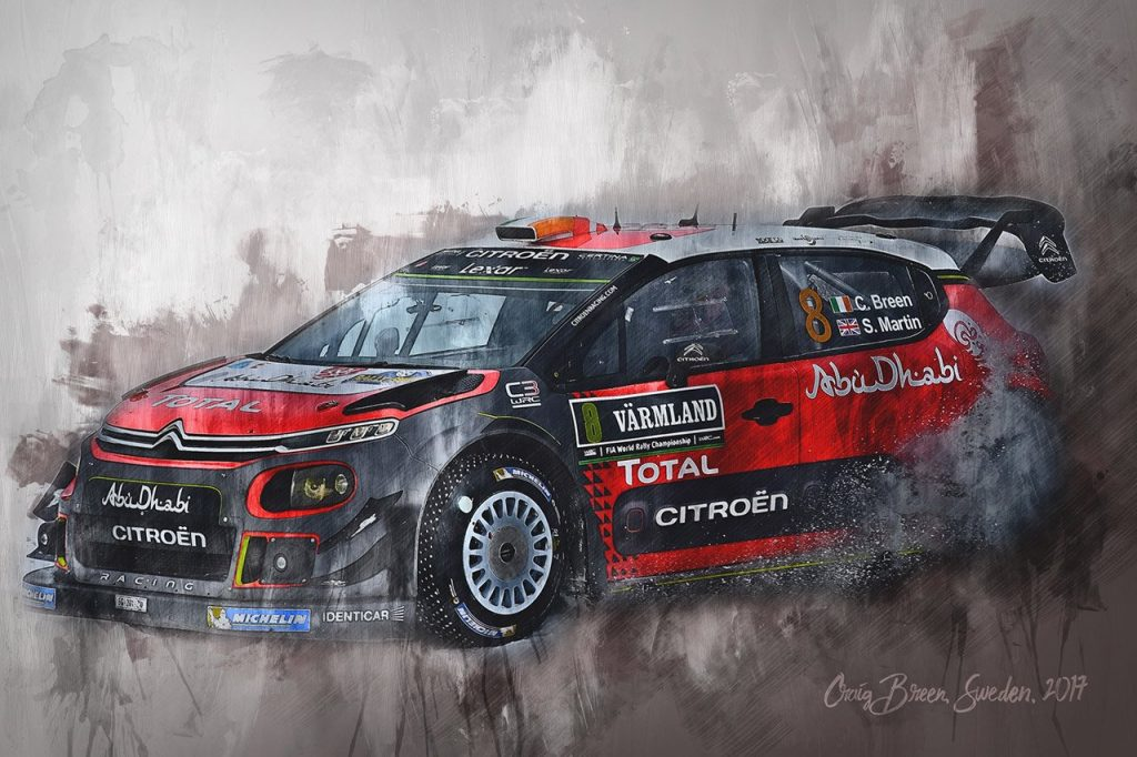 Craig Breen 002 - Wall Art Canvas Print