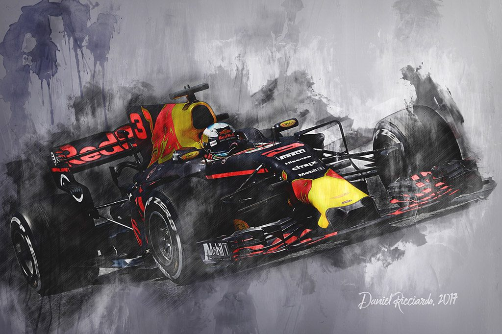 Daniel Ricciardo - Formula 1 - Wall Art Canvas