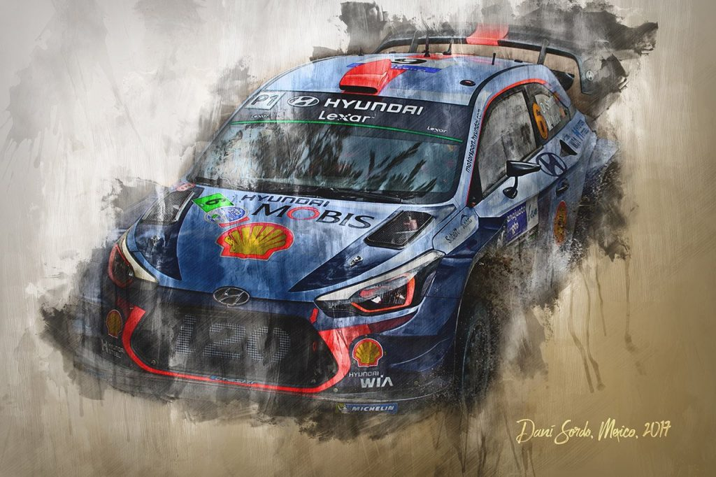 Dani Sordo - World Rally Championship - Wall Art Canvas