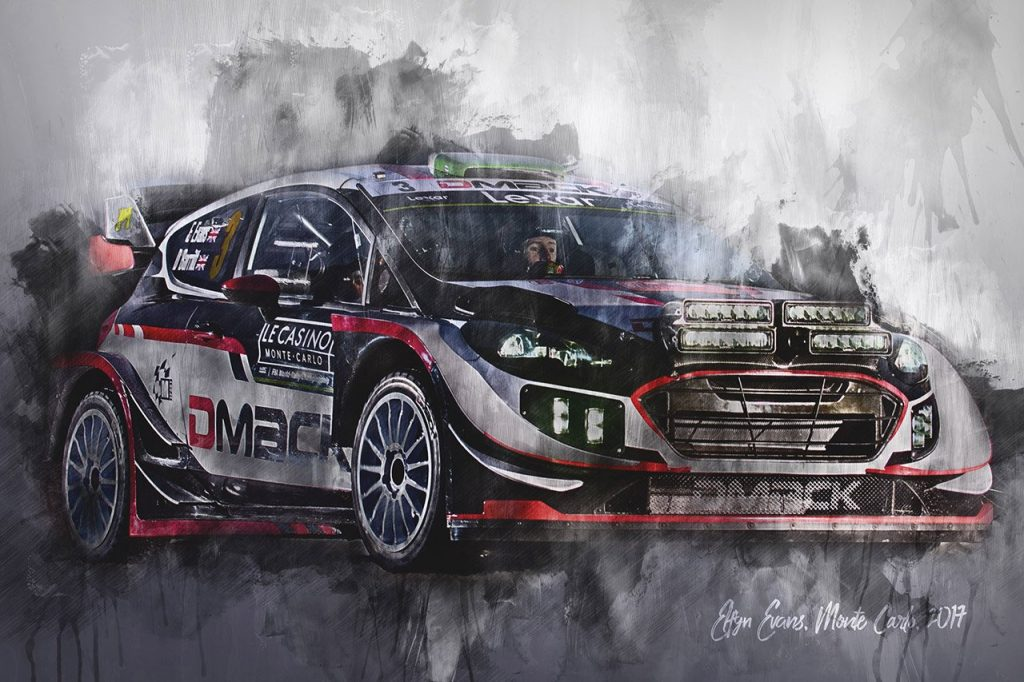 Elfyn Evans - World Rally Championship - Wall Art Canvas Print