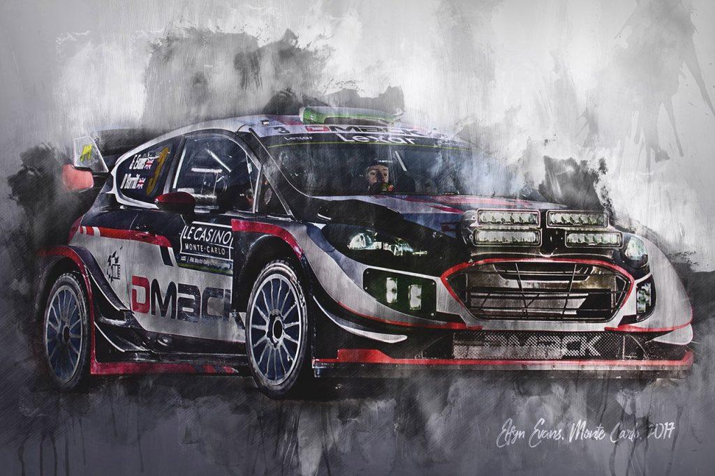 Elfyn Evans - World Rally Championship - Wall Art Canvas Print