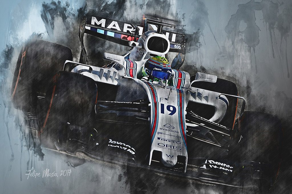 Felipe Massa - Motorsport Art - Formula 1 - Wall Art Canvas