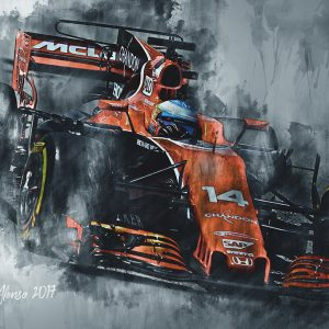 Fernando Alonso | Canvas Wall Art | F1 2017-001