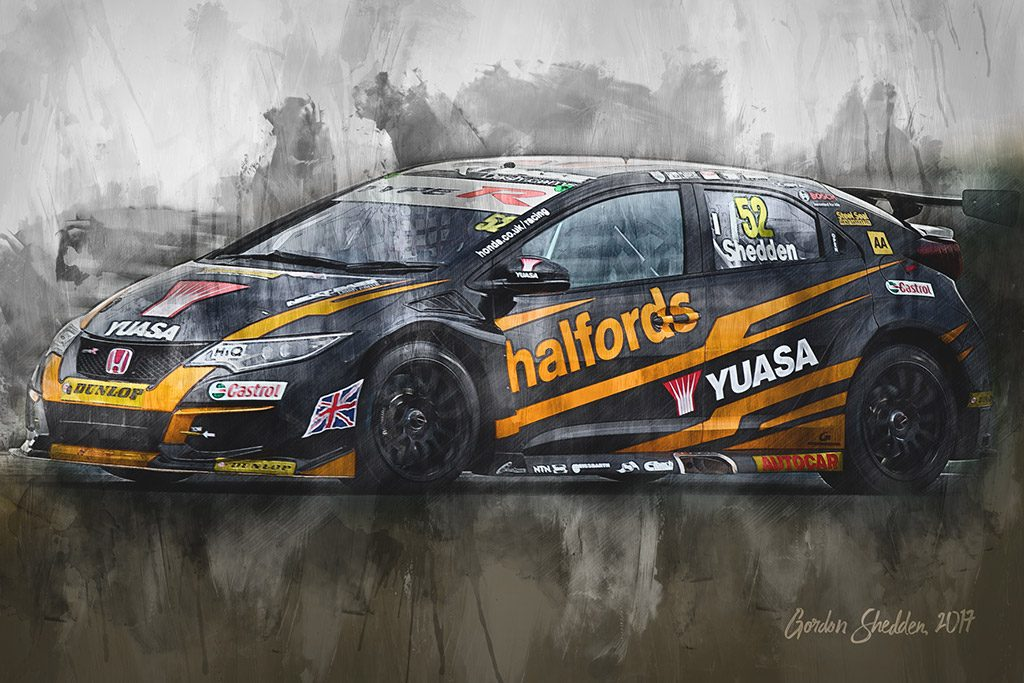 Gordon Shedden - British Touring Car Championship - Wall Art Canvas
