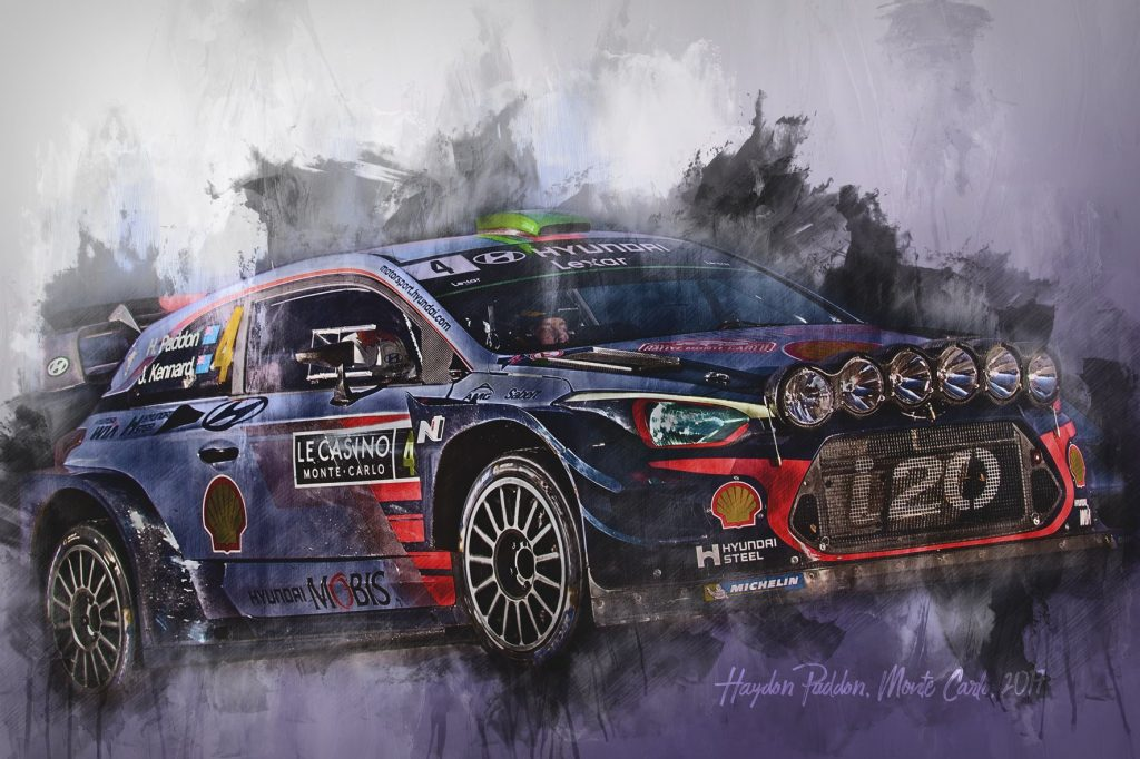 Hayden Paddon - World Rally Championship - Wall Art Canvas Print