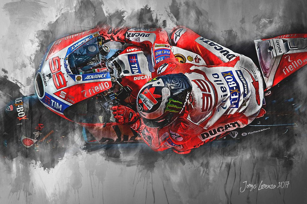 Jorge Lorenzo - Moto GP - Wall Art Canvas