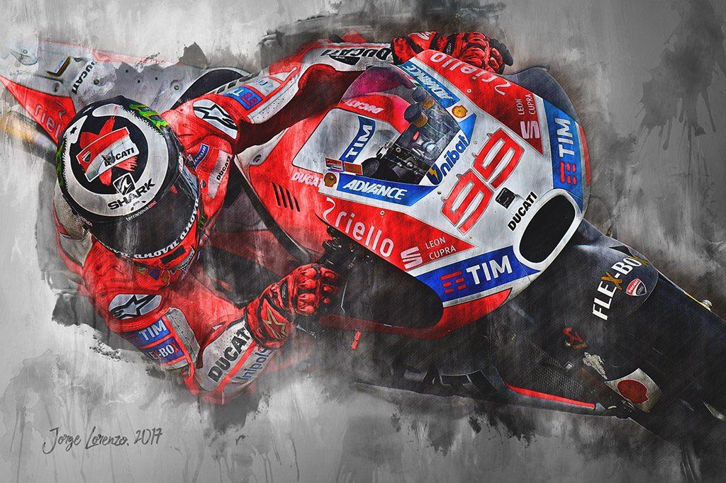 Jorge Lorenzo - Moto GP - Wall Art Canvas