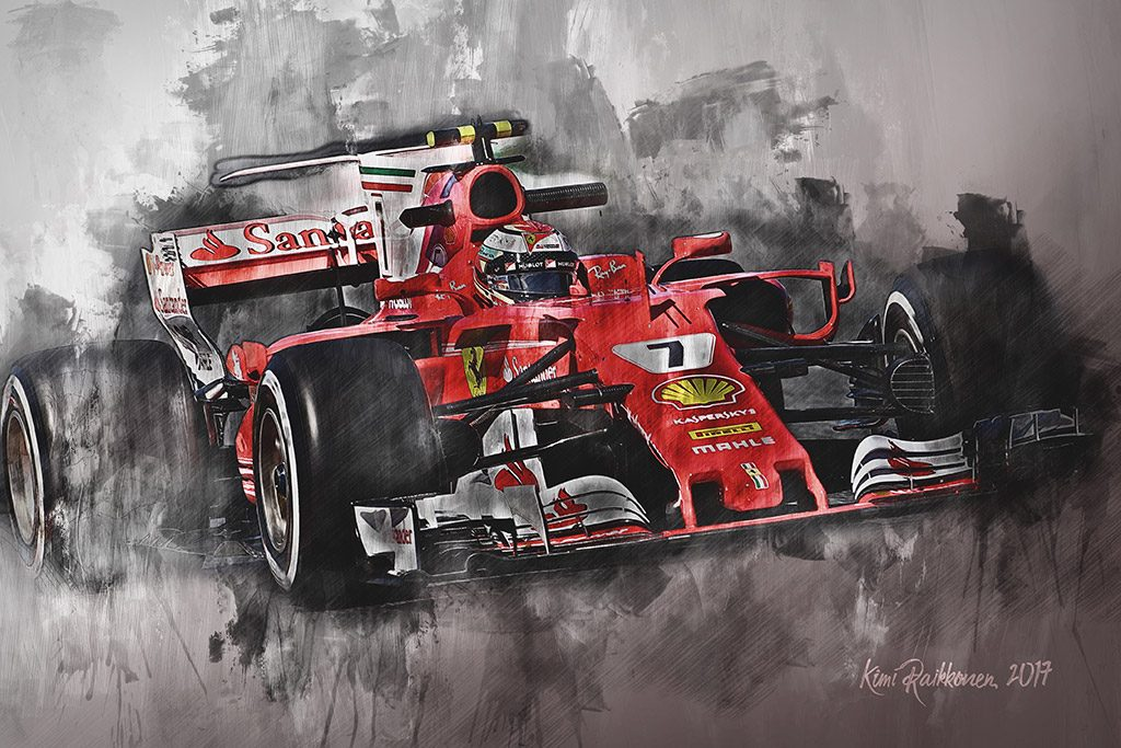 Kimi Raikkonen - Formula 1 - Wall Art Canvas