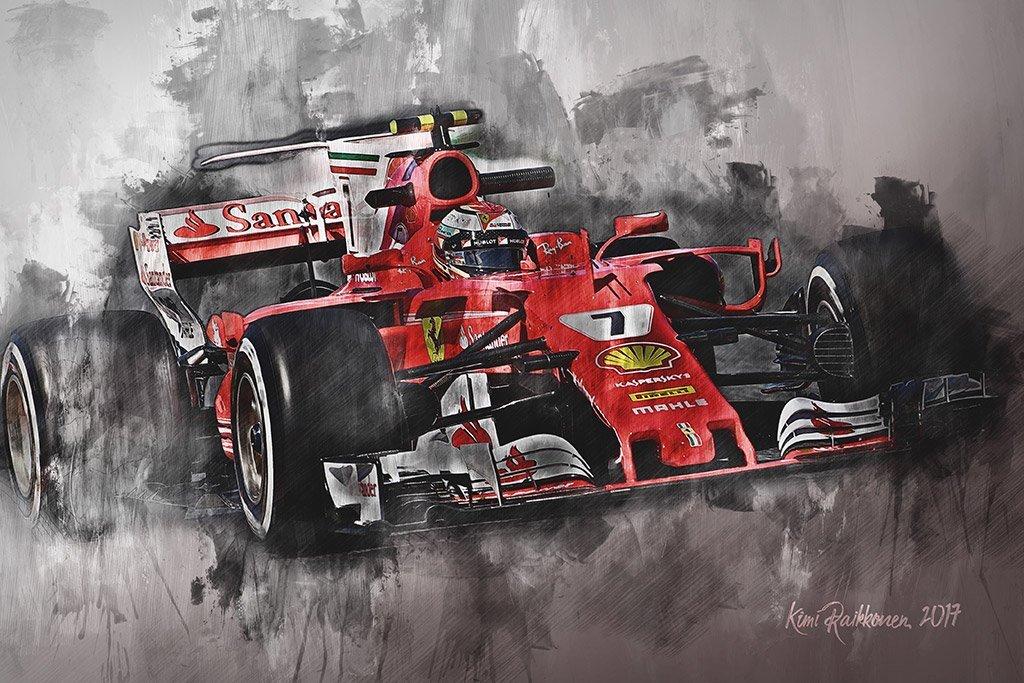 Kimi Raikkonen | Canvas Wall Art Print | F1 | Motorsport ART
