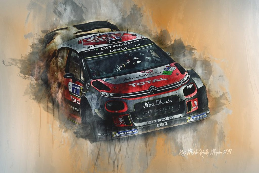 Kris Meeke World Rally Championship Wall Art Canvas