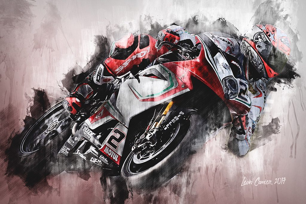 Leon Camier - World Superbikes - Wall Art Canvas Print
