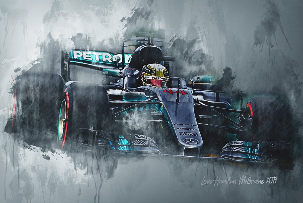 Lewis Hamilton - Motorsport Art - Formula 1 - Wall Art Canvas