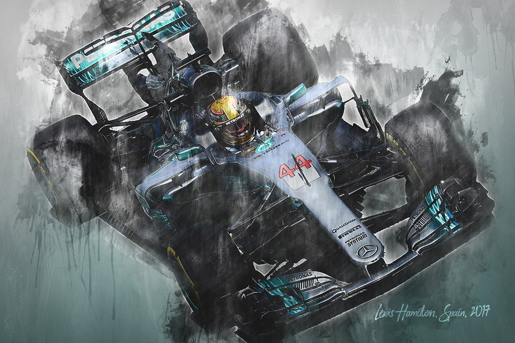 Lewis Hamilton - Formula 1 - Wall Art Canvas