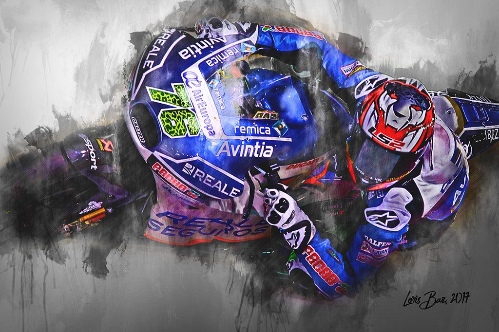 Loris Baz - Moto GP - Wall Art Canvas