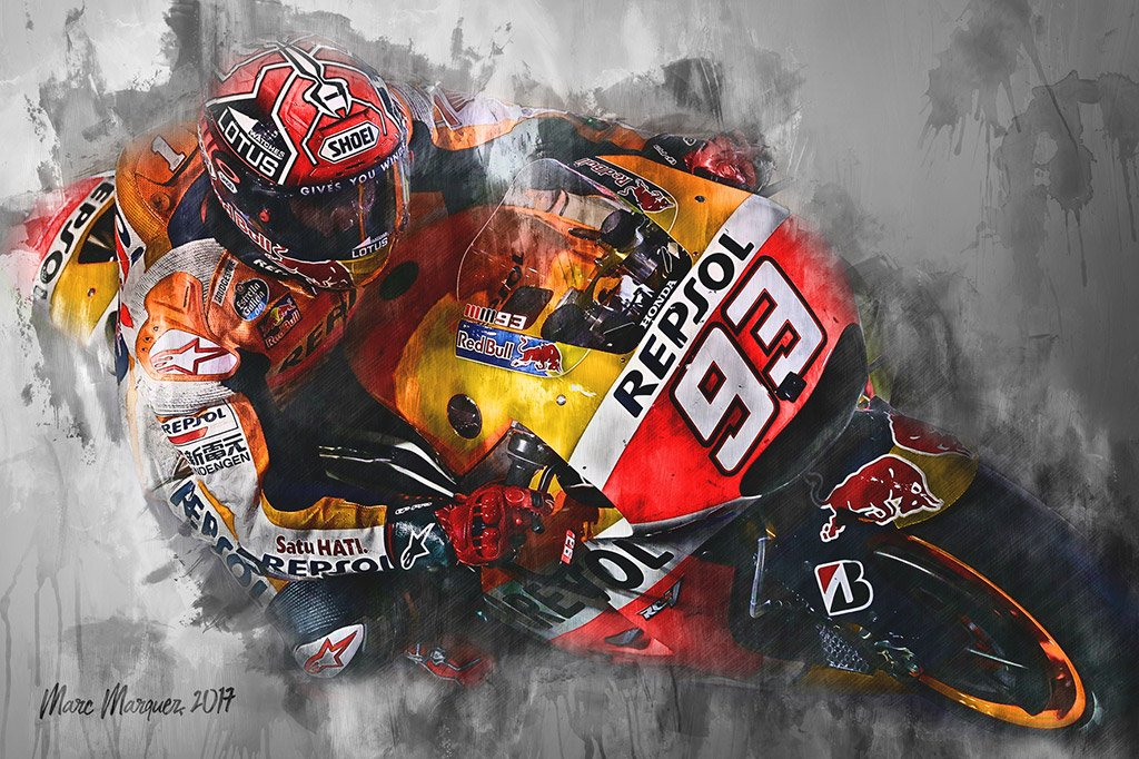 Marc Marquez | Canvas Wall Art Print | Moto GP | Motorsport ART