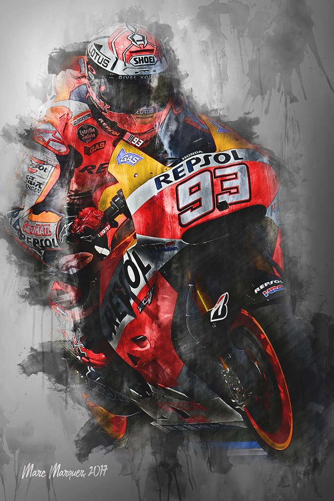Marc Marquez - Moto GP - Wall Art Canvas