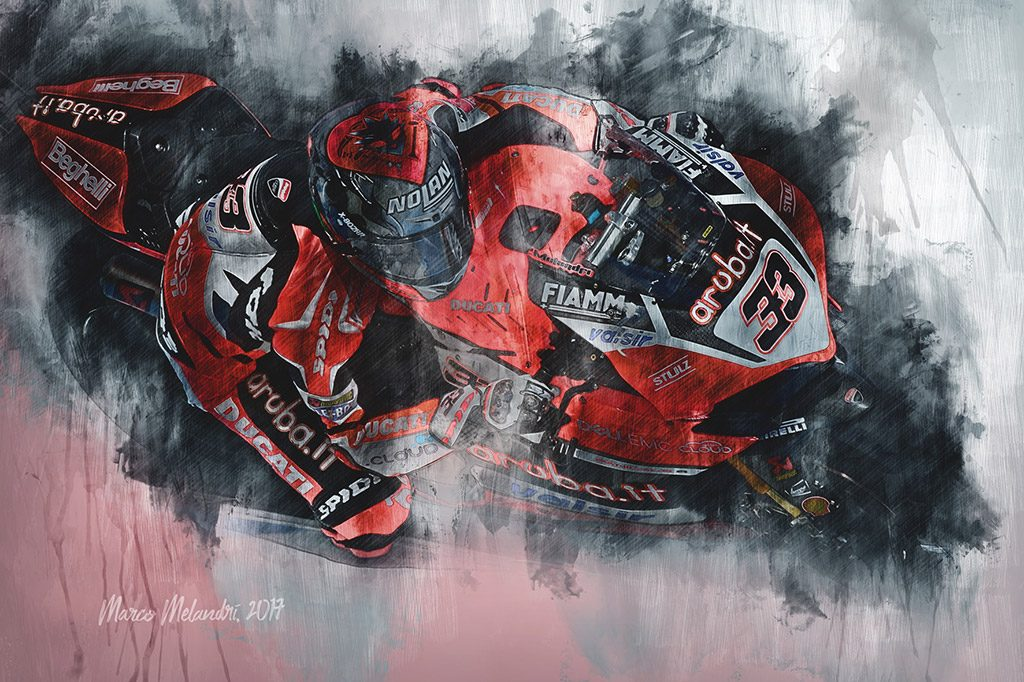 Marco Melandri World Superbikes Wall Art Canvas Print