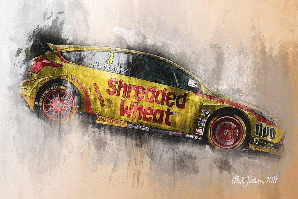 Mat Jackson - British Touring Car Championship - Wall Art Canvas