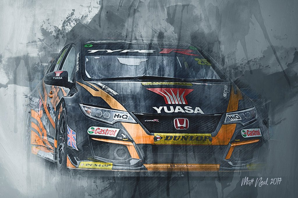 Matt Neal - British Touring Car Championship - Wall Art Canvas