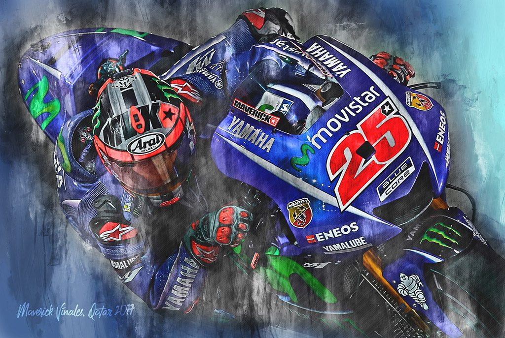 Maverick Vinales - Moto GP - Wall Art Canvas