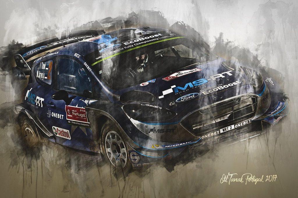 Ott Tanak World Rally Championship Wall Art Canvas