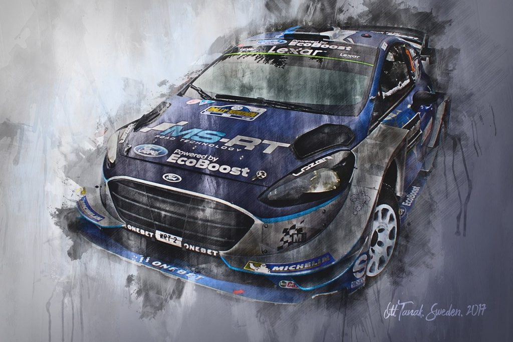 Ott Tanak World Rally Championship Wall Art Canvas