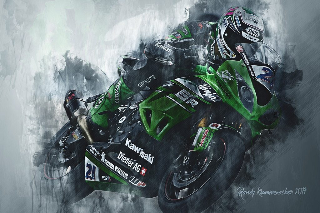 Randy Krummenacher - World Superbikes - Wall Art Canvas Print