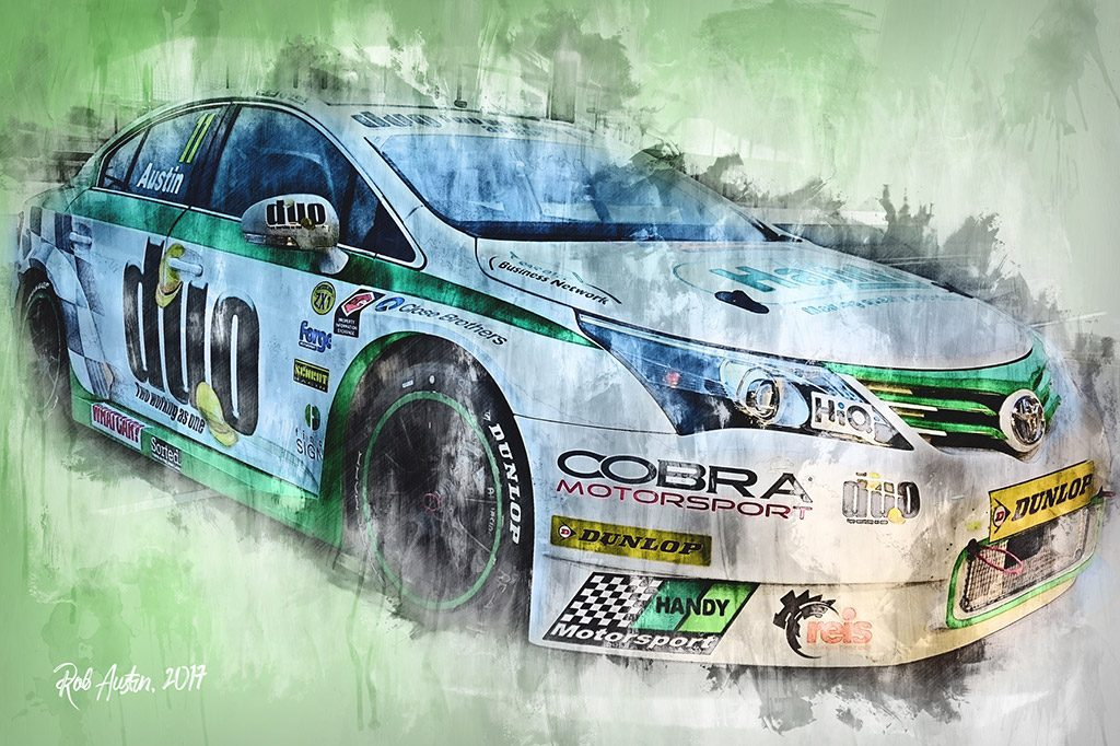 Rob Austin - Motorsport Art - British Touring Car Championship - Wall Art Canvas