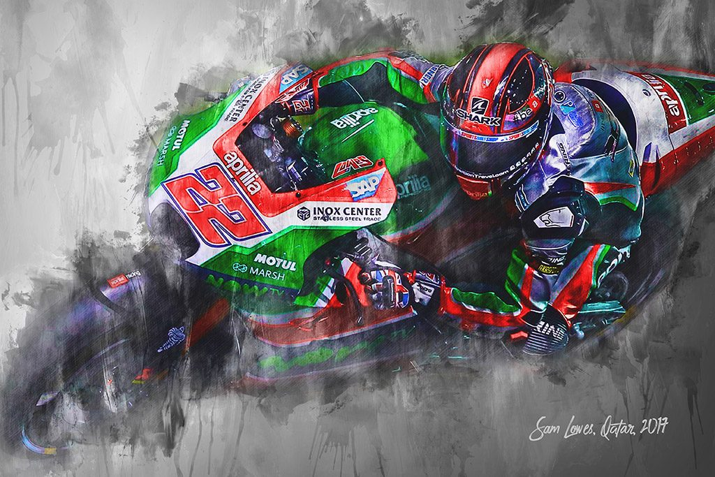 Sam Lowes - Moto GP - Wall Art Canvas