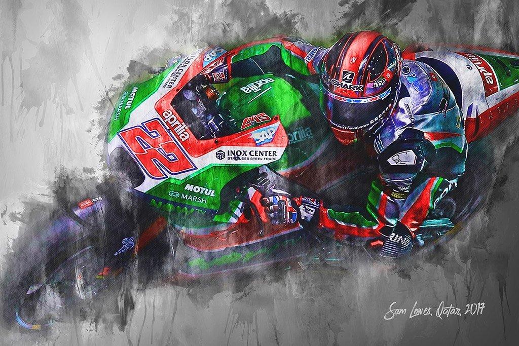 Sam Lowes   Canvas Wall Art Print   Moto GP   Motorsport ART