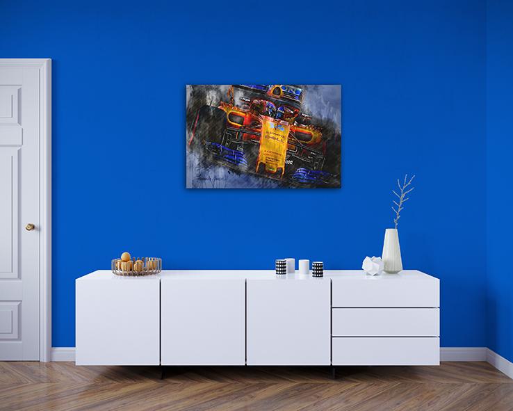 Fernando Alonso Canvas Art Team McLaren 2018