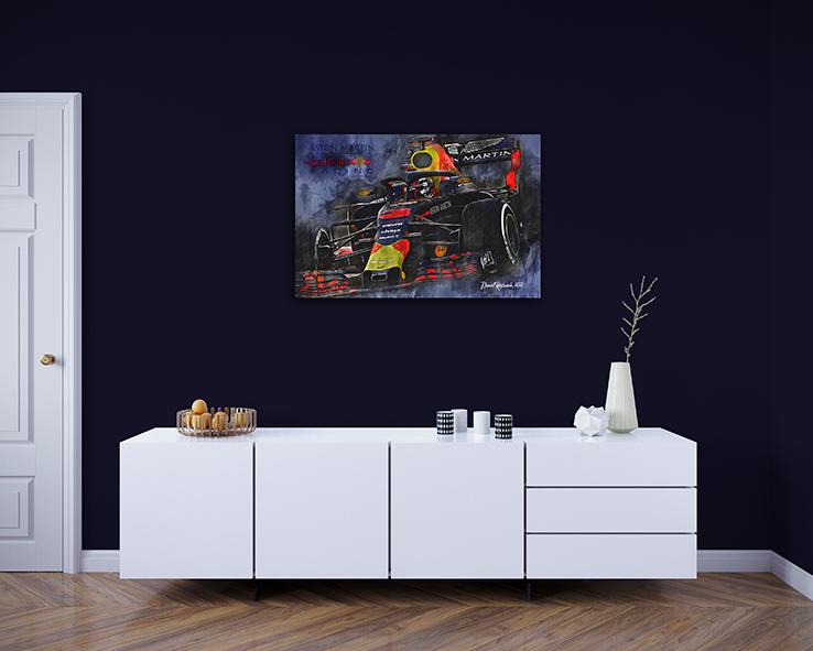 Daniel Ricciardo Wall Canvas Art 2018