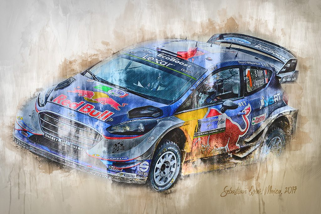 Seb Ogier - World Rally Championship - Wall Art Canvas