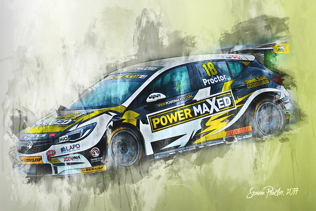 Senna Proctor - Motorsport Art - British Touring Car Championship - Wall Art Canvas