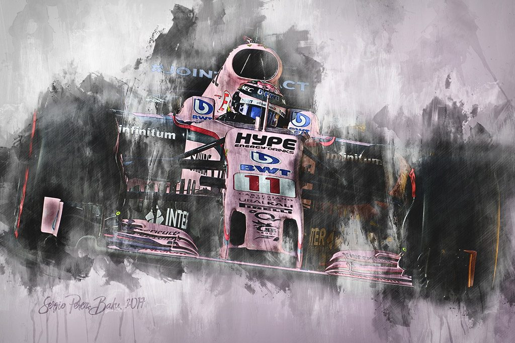Sergio Perez - Formula 1 - Wall Art Canvas